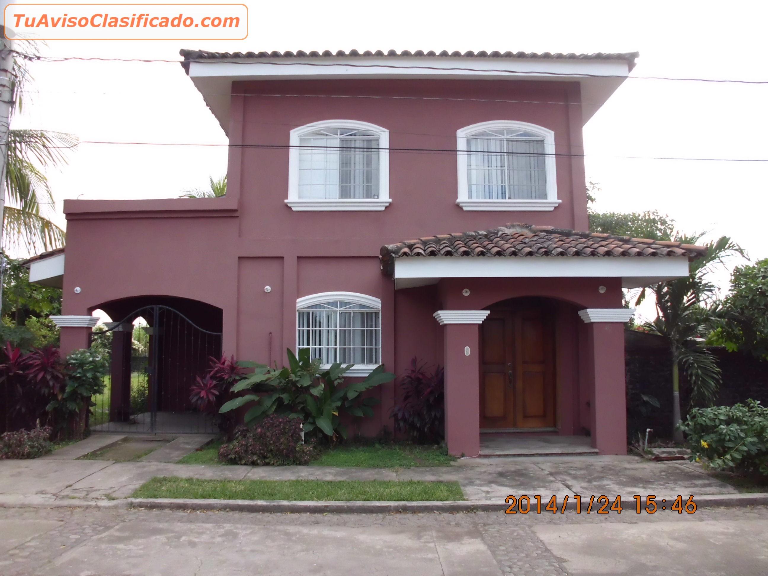 Casa De Alquiler Chinandega Hermosa Casa En Zona