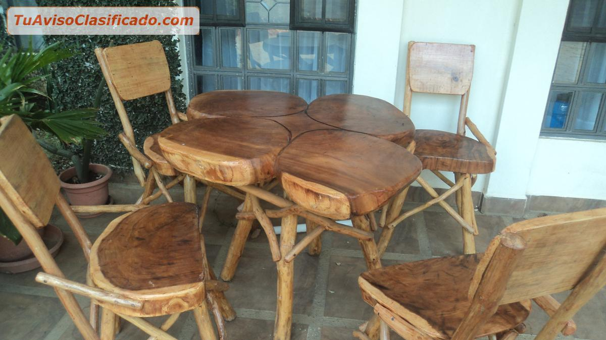 Hermosos muebles de madera r sticos mobiliario y for Muebles sillas de madera